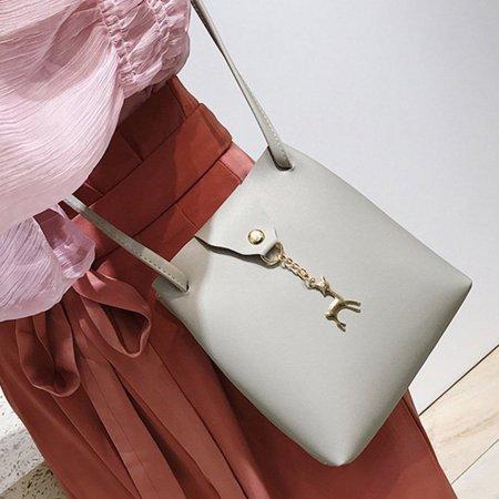DeerWomen Handbag Solid Color Shoulder Bag Storage Bag with Adjustable Strap - image 6 de 8