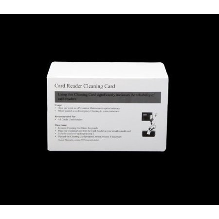 Credit Card Cleaning Card for Terminal Magnetic Head Swipe 99.9% IPA 50 cards