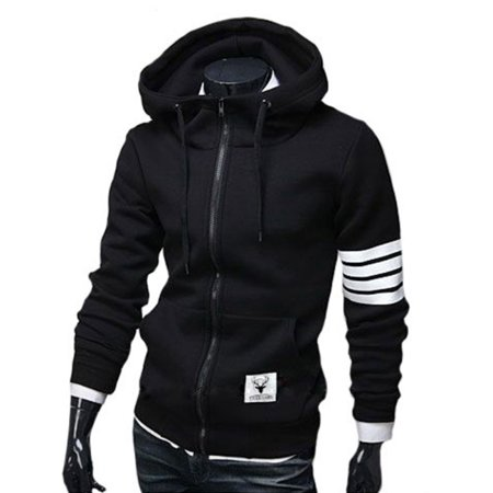 Autumn And Winter Men Hooded Zipper Cardigan Jacket Outdoor Transport Hoodies Long-sleeved Sweatshirts (Zippered Hooded Sweatshirt Men)