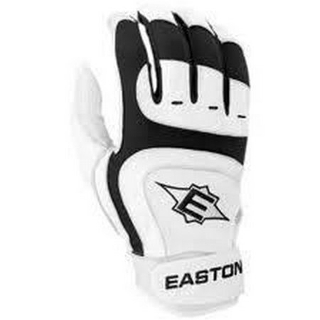 1 Pair Easton SV12 Pro Large Black Youth Leather Batting Gloves New In
