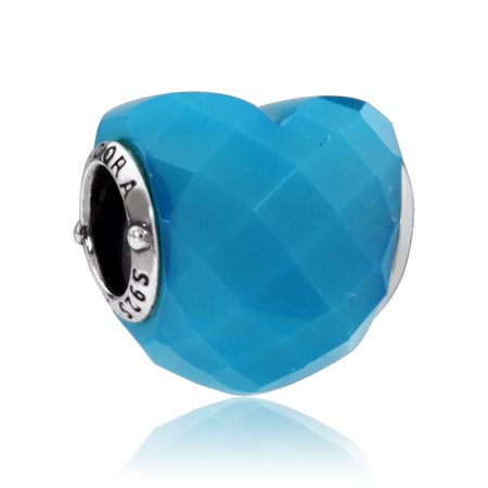 Pandora Shape of Love Charm With Scuba Blue Crystal 796563NSC