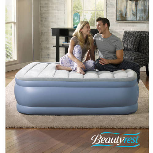 Simmons Beautyrest Hi Loft Raised Air Bed Mattress with Express Pump, Multiple Sizes
