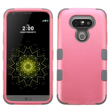 LG G5 Silicone Cover Case Tuff Hard Dual Layer Rubber by Insten - (Best Case For The Lg G5)
