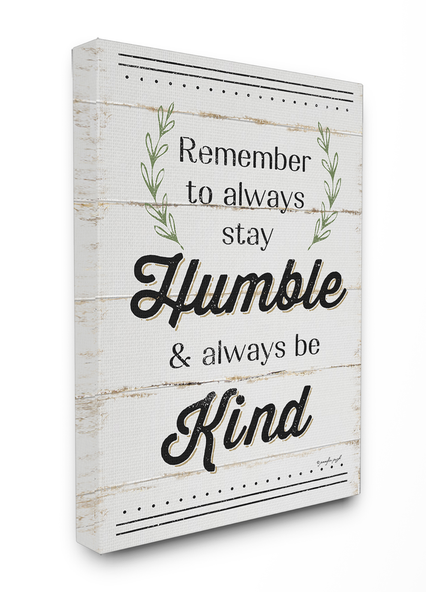 The Stupell Home Decor Collection Humble And Kind Rosemary Sprig Typography Oversized... by Stupell Industries