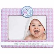 """Frame-Little Miracle Big Blessing-Pink (6.5"""")"""