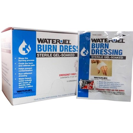 Sterile Gel-Soaked Burn Dressing Care for Burn Wounds 5 Packets by Water-Jel Brand MS-46210