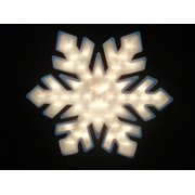 20 lighted snowflake double sided christmas window silhouette decoration