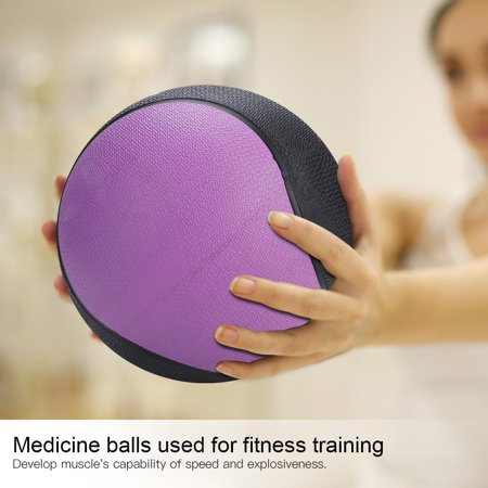 Hilitand 10 Sizes Weighted Fitness Medicine Rubber Ball for Gym Muscle Training Exercise,Ball, Ball for