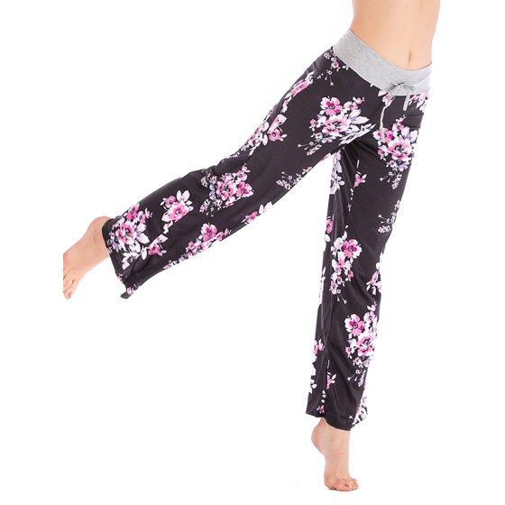 264a9036f6747 Lelinta - LELINTA Women s Plus Size Casual Yoga Pants Loose Fit Floral  Printed Wide Leg Trousers Pants Black Deep Gray Gray - Walmart.com