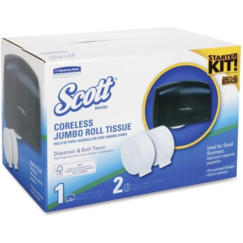 Scott Coreless JRT Starter Kit - Roll - 2 x Roll - Plastic - Smoke - Durable, Microban Protection