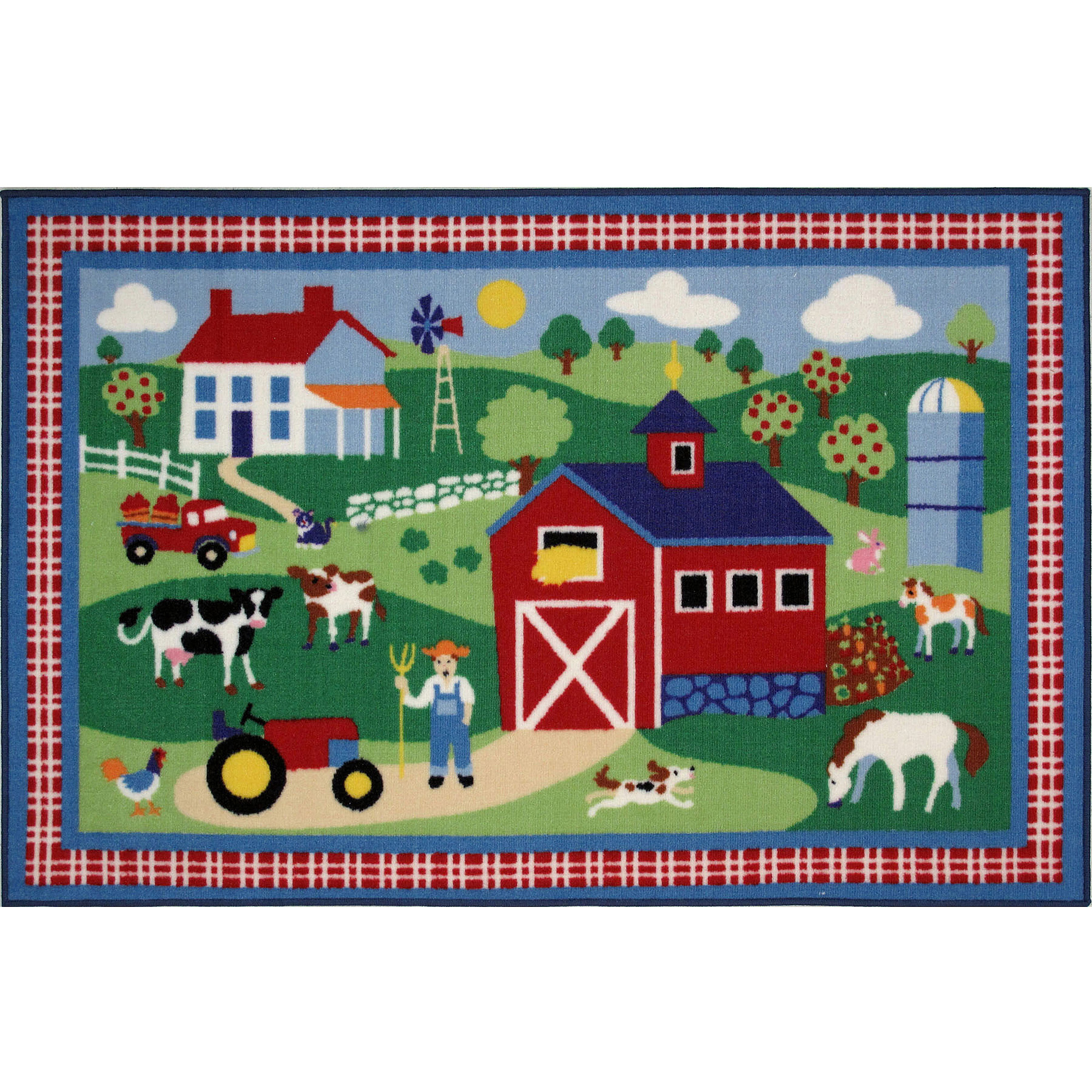 "Fun Rugs Olive Kids Country Farm 19"" x 29"" Rug"