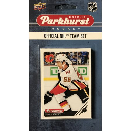 Calgary Flames 2018 2019 Upper Deck PARKHURST Series Factory Sealed Team Set including Johnny Gaudreau, Sean Monahan and James Neal plus 7