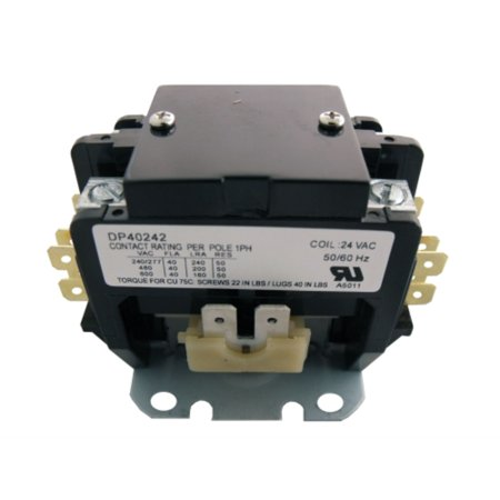 DP40242 Genuine OEM Supco Contactor 40A 24V 2 Pole 2 Pole Contactor Type