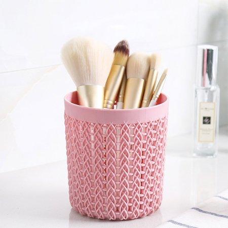 office school plastic cylinder shape woven pattern pen
