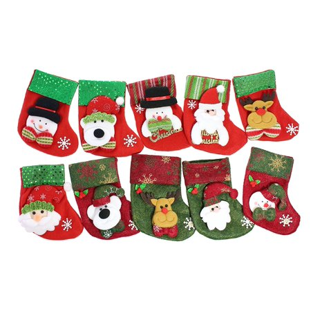 beautiful decorative sequined christmas stockings set of 10 small