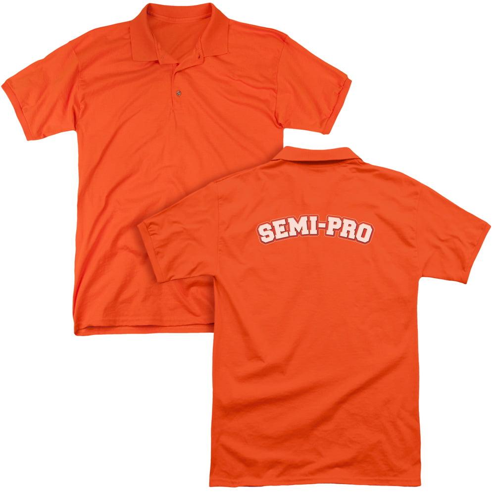 Semi-Pro Basketball Parody Sports Comedy Movie Logo Adult Back Print Polo Tee
