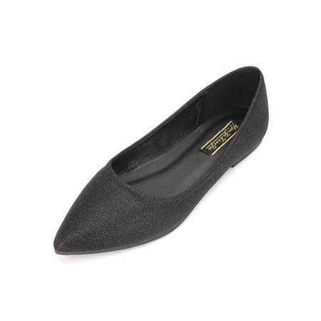 Summer Women's Pointed Toe Flats Shoes Single Boat Ballet Casual
