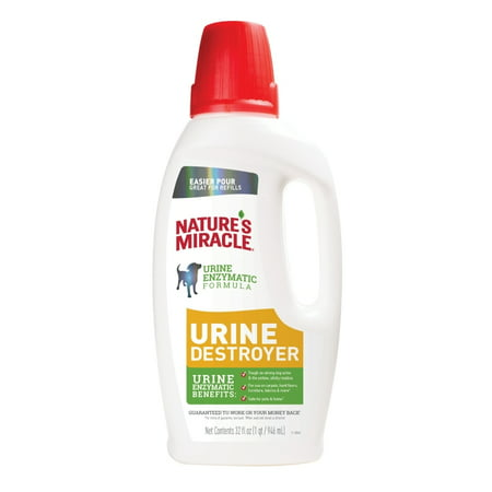 Nature's Miracle Urine Destroyer Dog 32 Ounces, For Tough Urine Messes, Pour Natures Carpet Natural