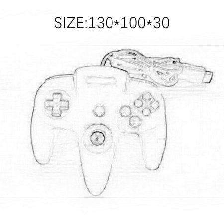 N64 game controller N64 wired controller N64 game wired controller - image 2 de 6