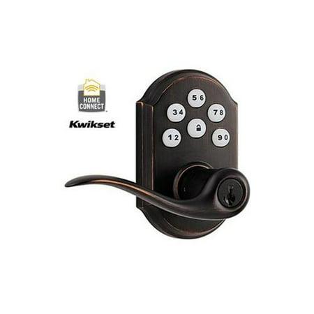 Kwikset 912 z wave motorized lever door lock featuring for Adt z wave door lock