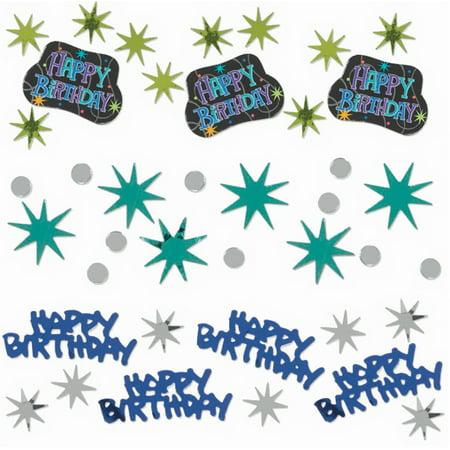 Happy Birthday Stars and Words Confetti - Happy Birthday Confetti