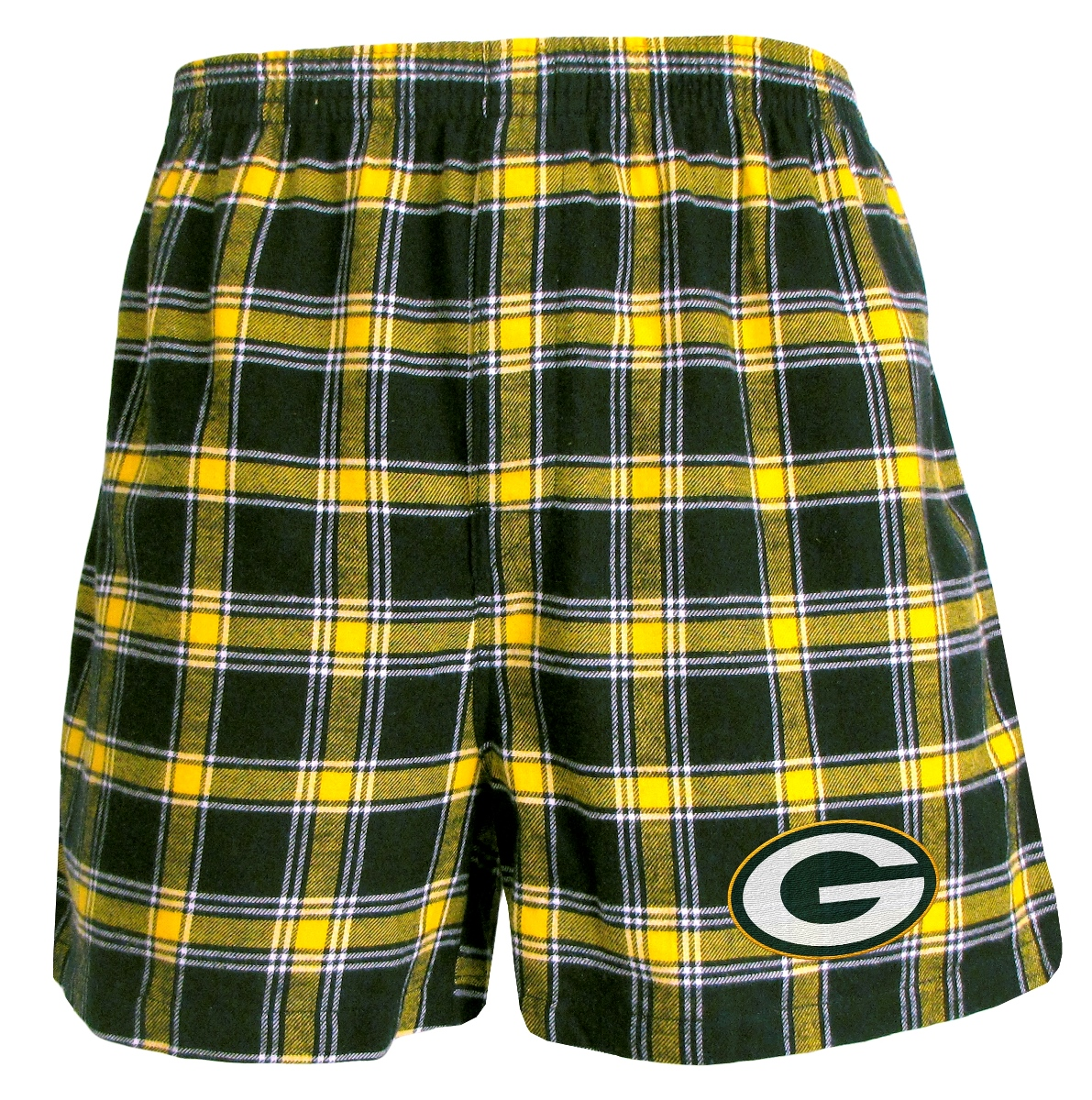 "Green Bay Packers NFL ""Acclaim"" Men's Cotton Flannel Boxer"