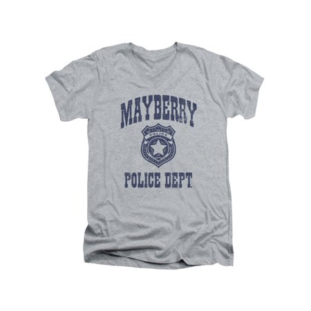 661d7b41 Trevco - Andy Griffith Show Mayberry Police Adult V-Neck T-Shirt ...