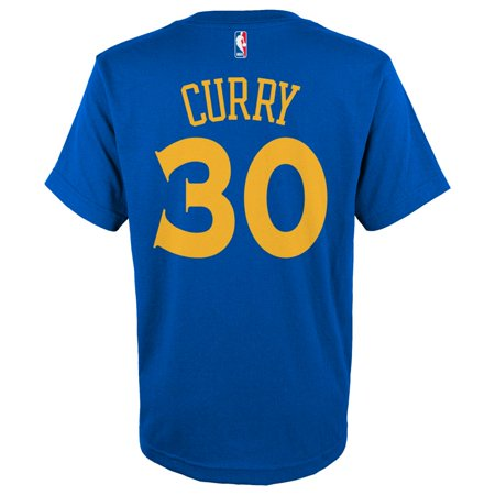 Stephen Curry Golden State Warriors Youth Gametime Name And Number T Shirt  Royal