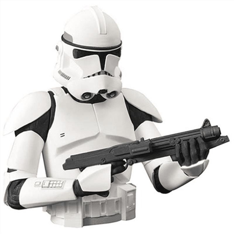 "Star Wars Clone Wars Clone Trooper 7"" Vinyl Bust Bank"