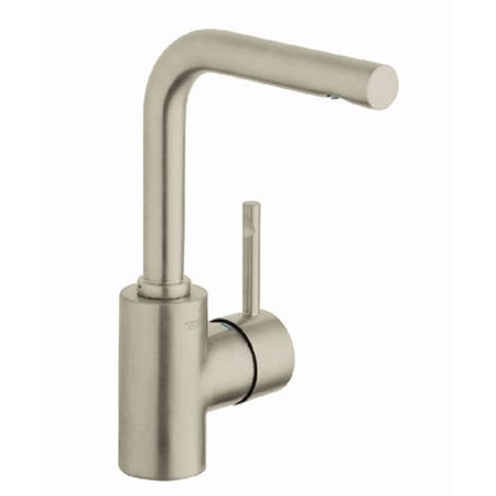 Grohe 32137000 Essence Highspout Basin Mixer, Available in Various Colors Grohe 32137000 Essence Highspout Basin Mixer, Chrome: Single Lever Lavatory CentersetGROHE SilkMove9 1 â 16  Aerator height5 1 â 4  Swivel spout reach9 15 â 16  Faucet heightSolid brass bodyQuick installation systemStainless steel flex lines