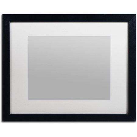 Trademark Fine Art Heavy-Duty 16x20 Black Picture Frame with 11x14 ...