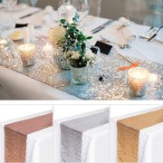 12'' x 118'' Sequin Table Runners, Glitter Table Cloth Wedding Baby Shower Birthday Event Decor Photography Background Backdrop Photo Studio Props