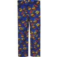 Mad Engine Men's SpongeBob And the Krabby Patties Plush Lounge Pants