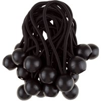 "Ball Bungee Cords 25 Pack- Secure Cargo and Organize Hoses and Extension Cords with the Weather Resistant Black 6"" Ball Bungee Cords by Stalwart"