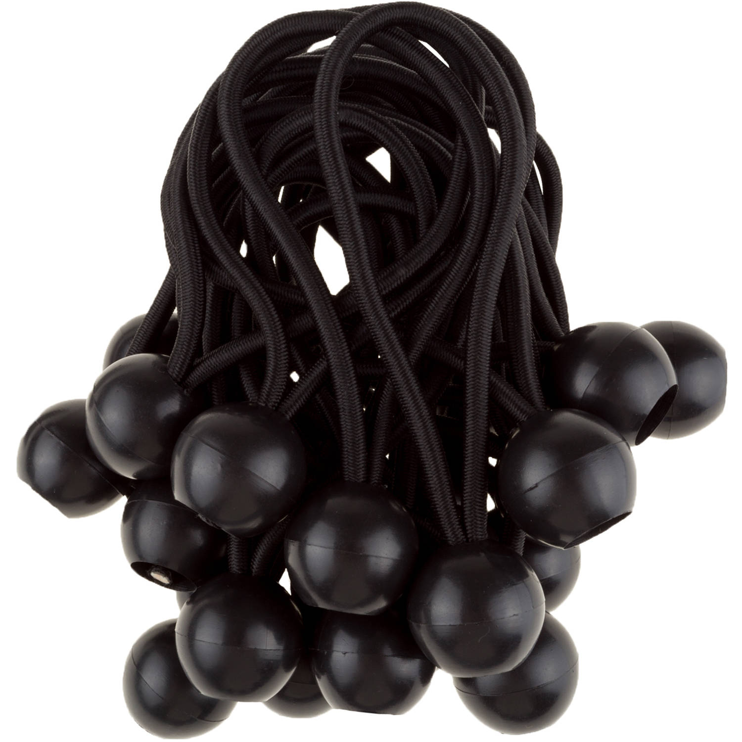 Ball Bungee Cords Black Stalwart 25 pack, 6""