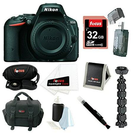 Nikon D5500 DX-format Digital SLR Body (Black) with 32GB Deluxe Accessory Bundle