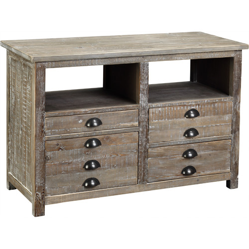 Loon Peak Snow Tower 4 Drawer Accent Chest