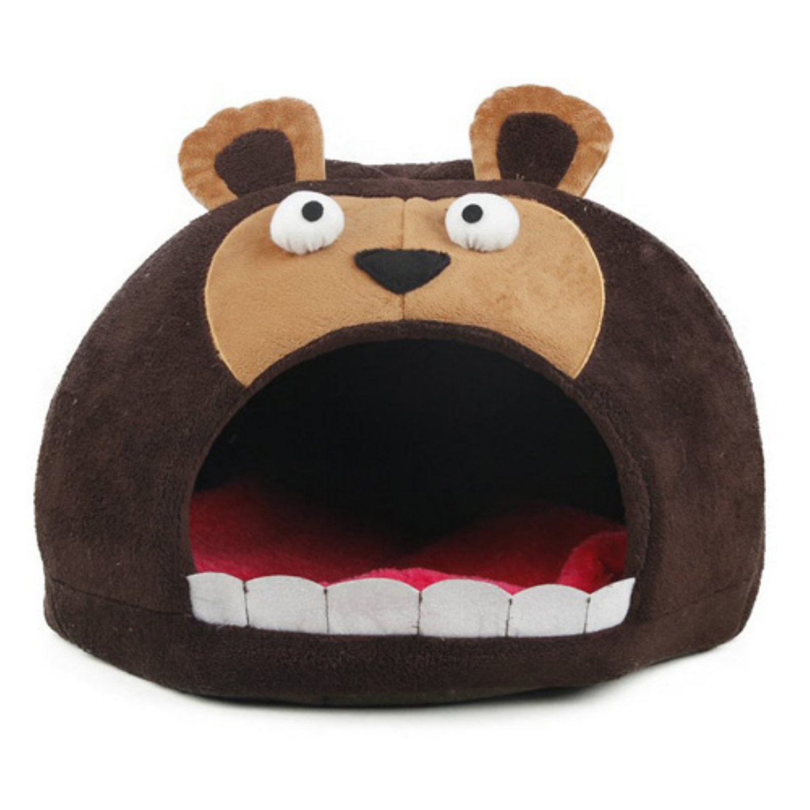 Pet Life Roar Bear Snuggle Plush Polar Fleece Pet Bed