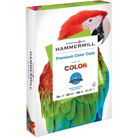 Hammermill Copy Paper, 100 Brightness, 28lb, 11 x 17, Photo White, 500/Ream (Color Laser Printer 11 X 17 Paper)