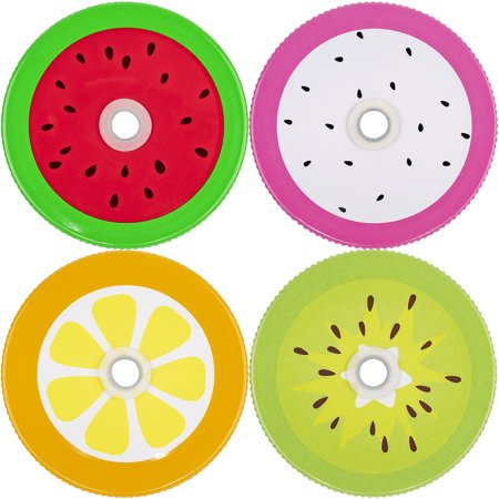 Mason Jar Lids With Holes (Mason Jar Lids Fruits With Hole, Set of)