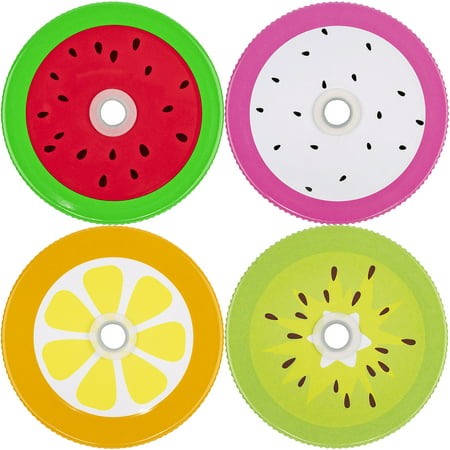 Fruit Storage Jar (Mason Jar Lids Fruits With Hole, Set of 4)