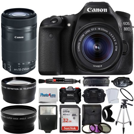 Canon EOS 80D Digital SLR Kit With EF S 18 55mm F 35