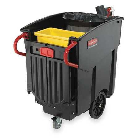 Mobile Waste Collector,Refuse,Black,120G RUBBERMAID FG9W7300BLA