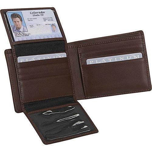 Royce Leather Men's Euro Commuter Wallet