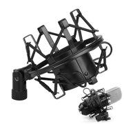 TSV Universal 50MM Microphone Shock Mount For 48MM-54mm Diameter Condenser Mic, Black, 1-Pack