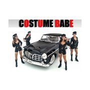 """Costume Babes"""" 4 Piece Figure Set For 1:24 Scale Models by American Diorama"""""""