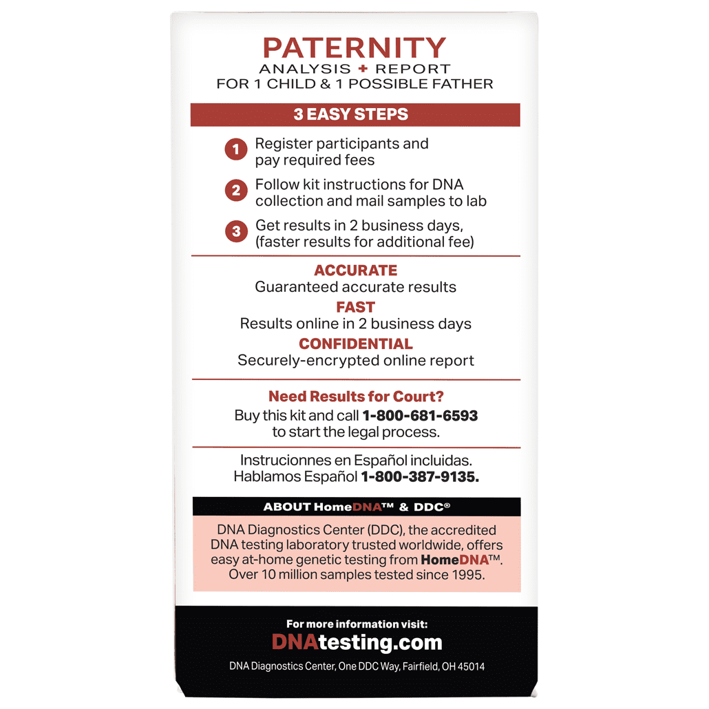 a58d1814a HomeDNA™ Paternity Test Kit for At-Home Use - Walmart.com
