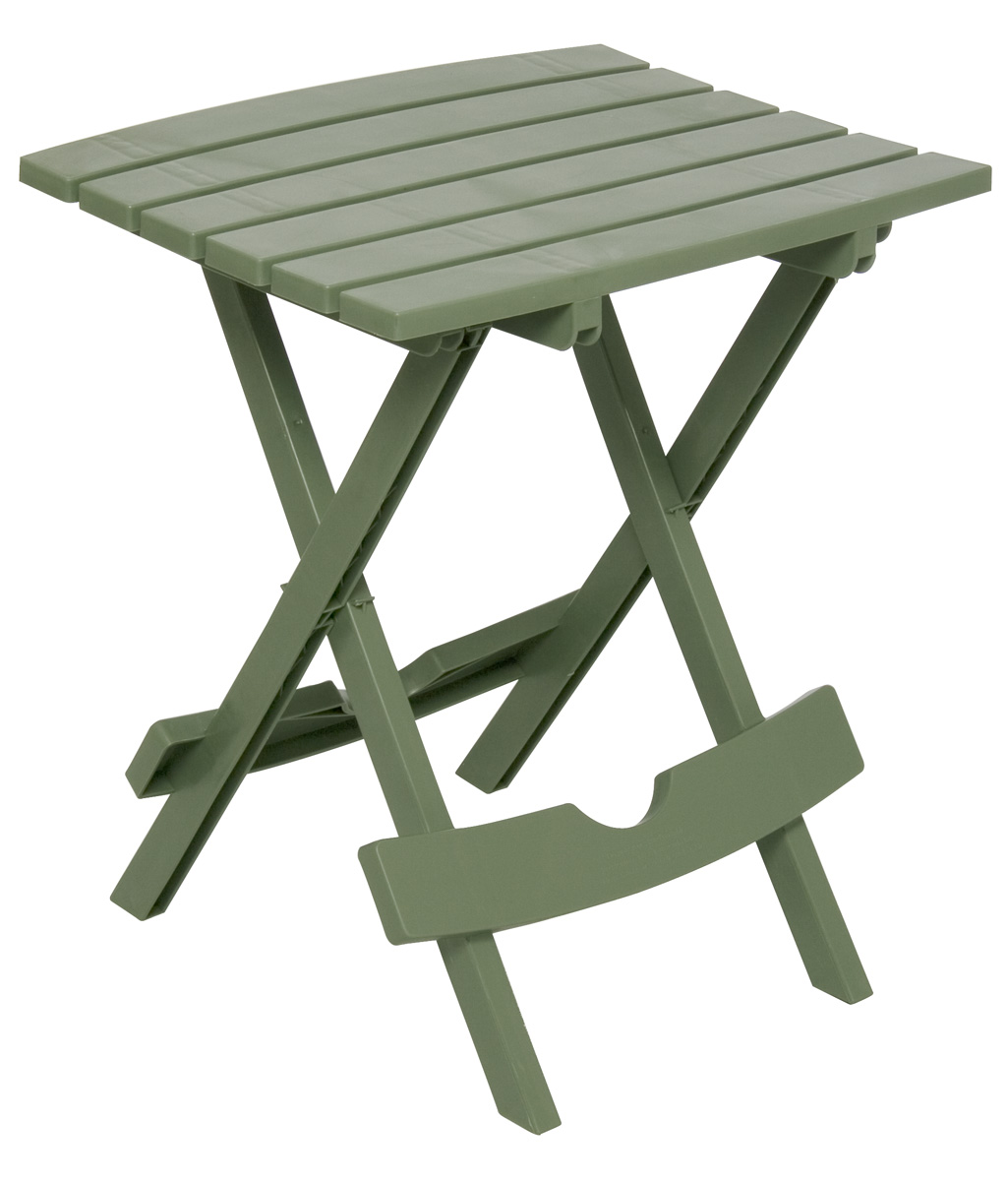 Adams Manufacturing Quik Fold Side Table, Sage