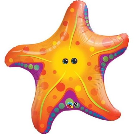 Fish Balloon (Super Sea Star Fish Qualatex 30 Inch Foil Balloon, By Under The Seasea Creatures)