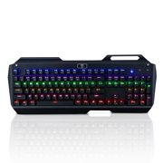 TOMOKO Mechanical Gaming Keyboard with 104 Key and Multi-color Backlight, Clicky Tactile High-Speed Feedback, Fit for Gamers, Typists
